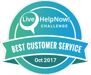 Live Chat Customer Service Award Oct 2017