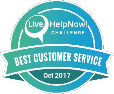 Live Chat Customer Service Award Oct 2017