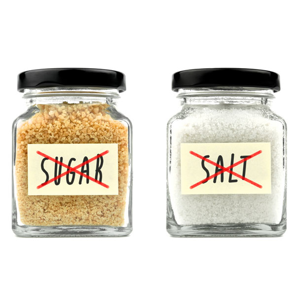 Small changes: reduce sugar & salt