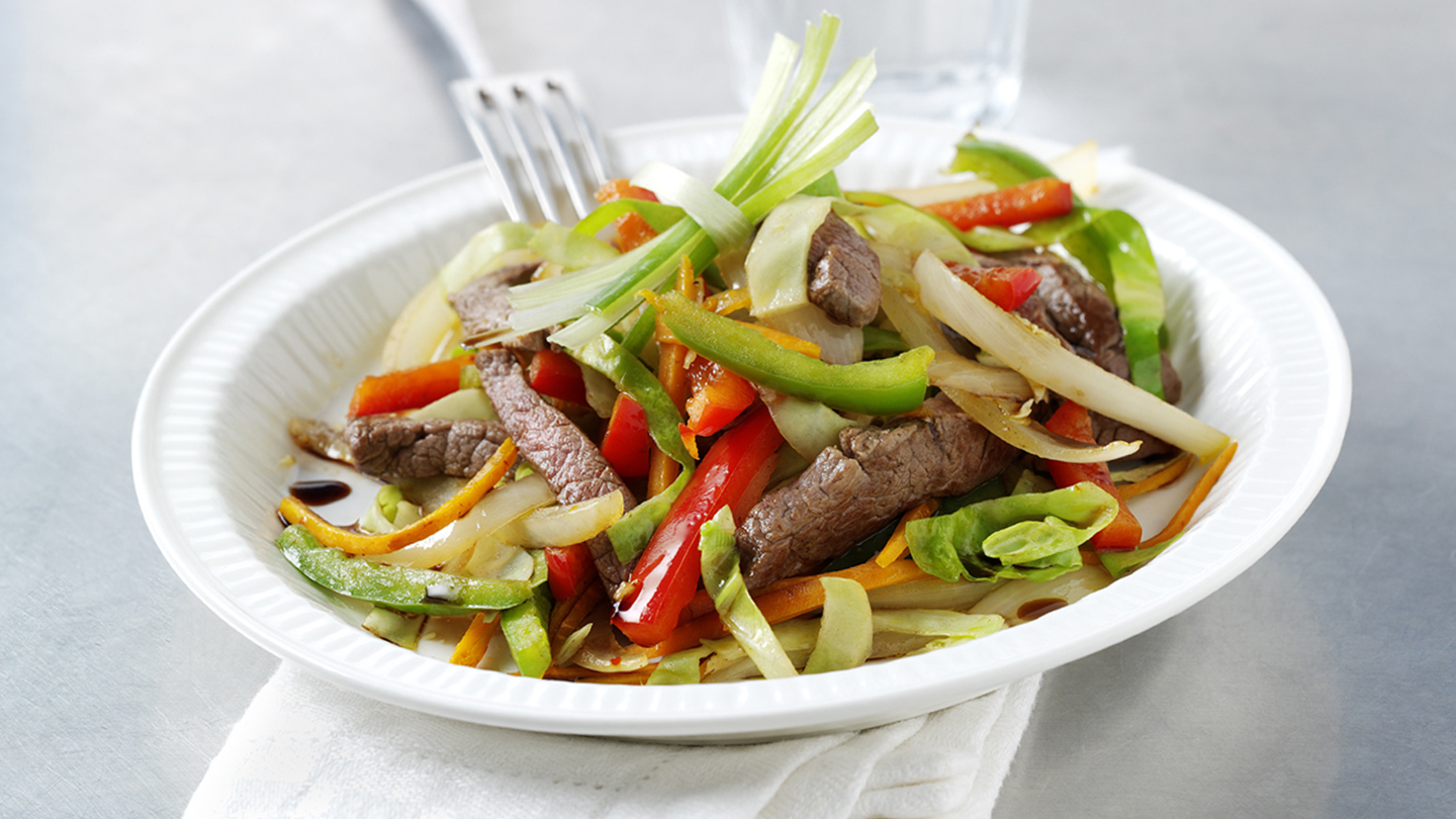 Chilli and ginger beef stir-fry