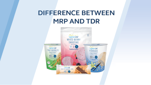 The difference between a Meal Replacement (MRP) and Total Diet Replacement (TDR)